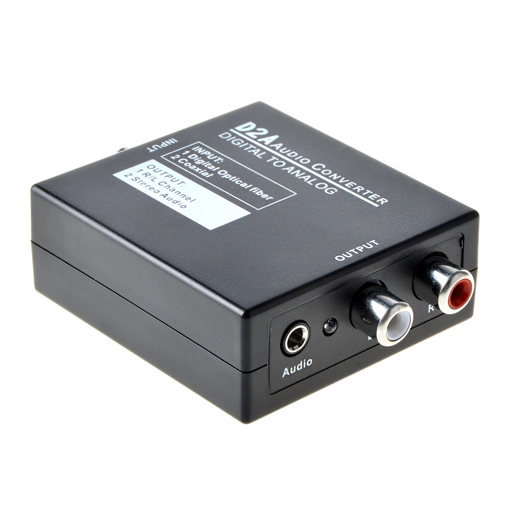 ABLEGRID Optical Coaxial Toslink Digital to Analog Audio Converter Adapter RCA L/R 3.5mm