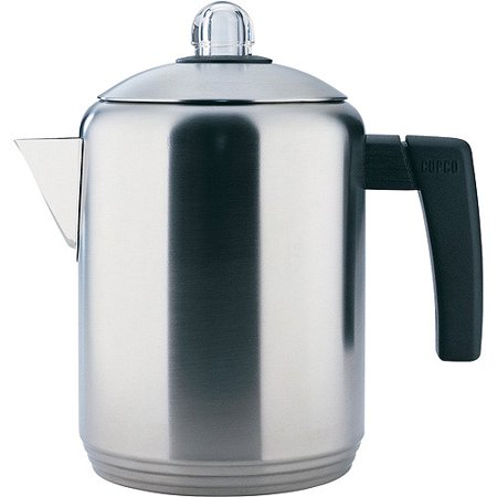 Copco 4- to 8-Cup Stovetop Brushed Stainless Steel Percolator