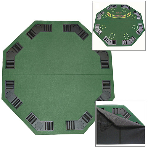 Trademark Poker Deluxe Poker & Blackjack Table Top With Case