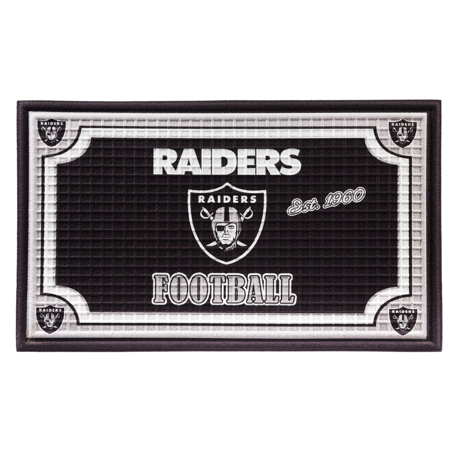 Team Sports America NFL Football Embossed Door Mat