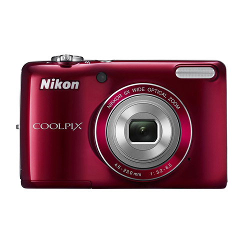 "Nikon COOLPIX L26 Red 16MP Digital Camera w/ 5x Optical Zoom Lens, 3"" LCD Display, HD Video, Image Stabilization"