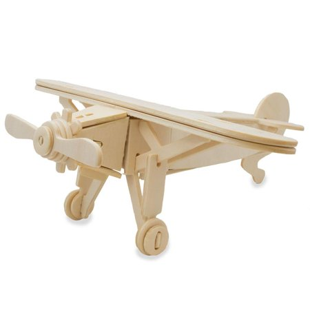 High Wing Propeller Airplane Model Kit Wooden 3D (High Wing Airplane)
