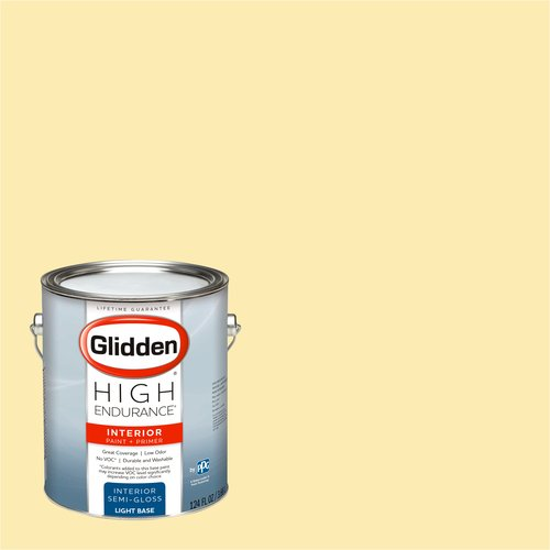 glidden high endurance interior paint and primer early morning sun 54yy 85