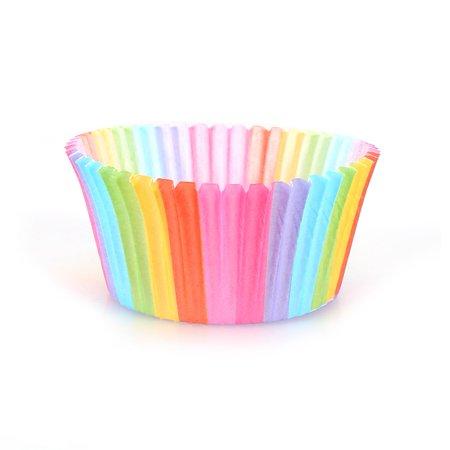 Domqga 100 Pcs Rainbow Couleur Cupcake Liner Cupcake Papier Cuisson Coupe Muffin Cas Moule À Gâteau, Arc-En Couleur Cuisson Tasse, Cupcake Liner Moule - image 6 de 8