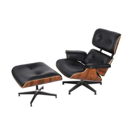 Incredible Emod Mid Century Plywood Lounge Chair And Ottoman Eames Style Leather Black Palisander Squirreltailoven Fun Painted Chair Ideas Images Squirreltailovenorg