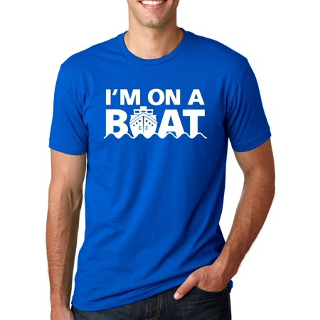 Crazy Dog T-shirts I'm On A Boat T Shirt Funny Cruise Ship Boating (Clothes To Wear On A Boat Cruise)