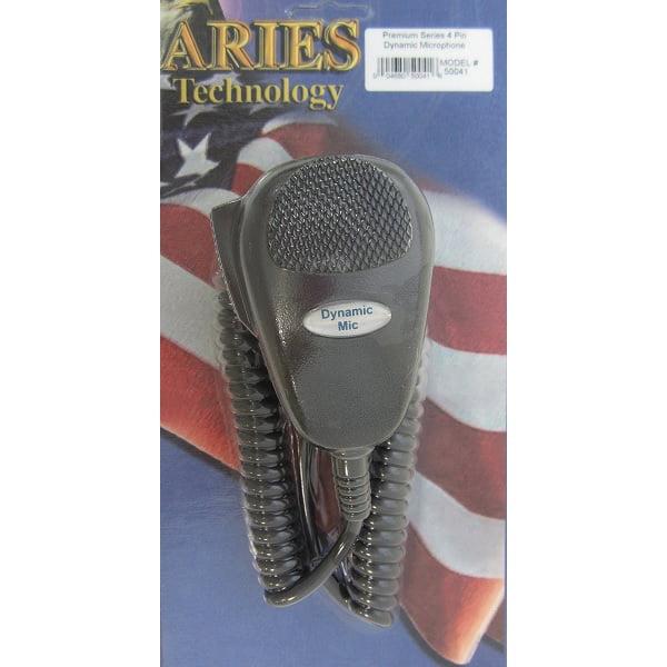 ARIES 50041 PREMIUM SERIES 4-PIN DYNAMIC CB RADIO MICROPHONE COBRA   UNIDEN by ARIES