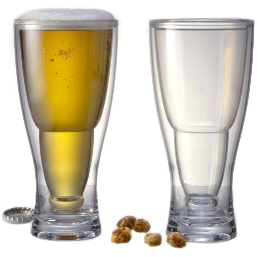 HOPSY-TURVY Upside Down Beer Glass, 2 Pack by Prodyne