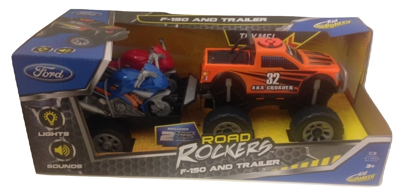 Kid Galaxy Road Rockers F-150 4x4 Crusher and Trailer by