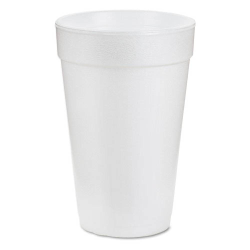 16 oz White, Disposable Insulated Foam Drink Cups, To Go ...