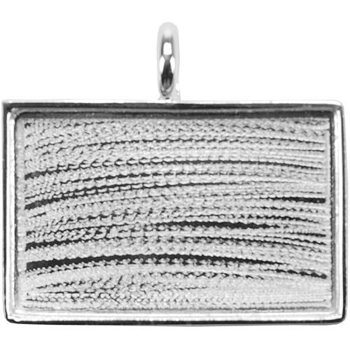 Amate Studios Silver Overlay Large Rectangle Base, 33.4mm x 21.7mm