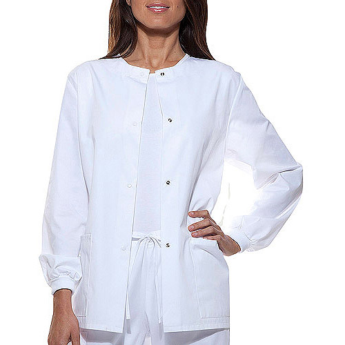 Simply Basic Women's Core Essentials Snap Front Scrub Jacket