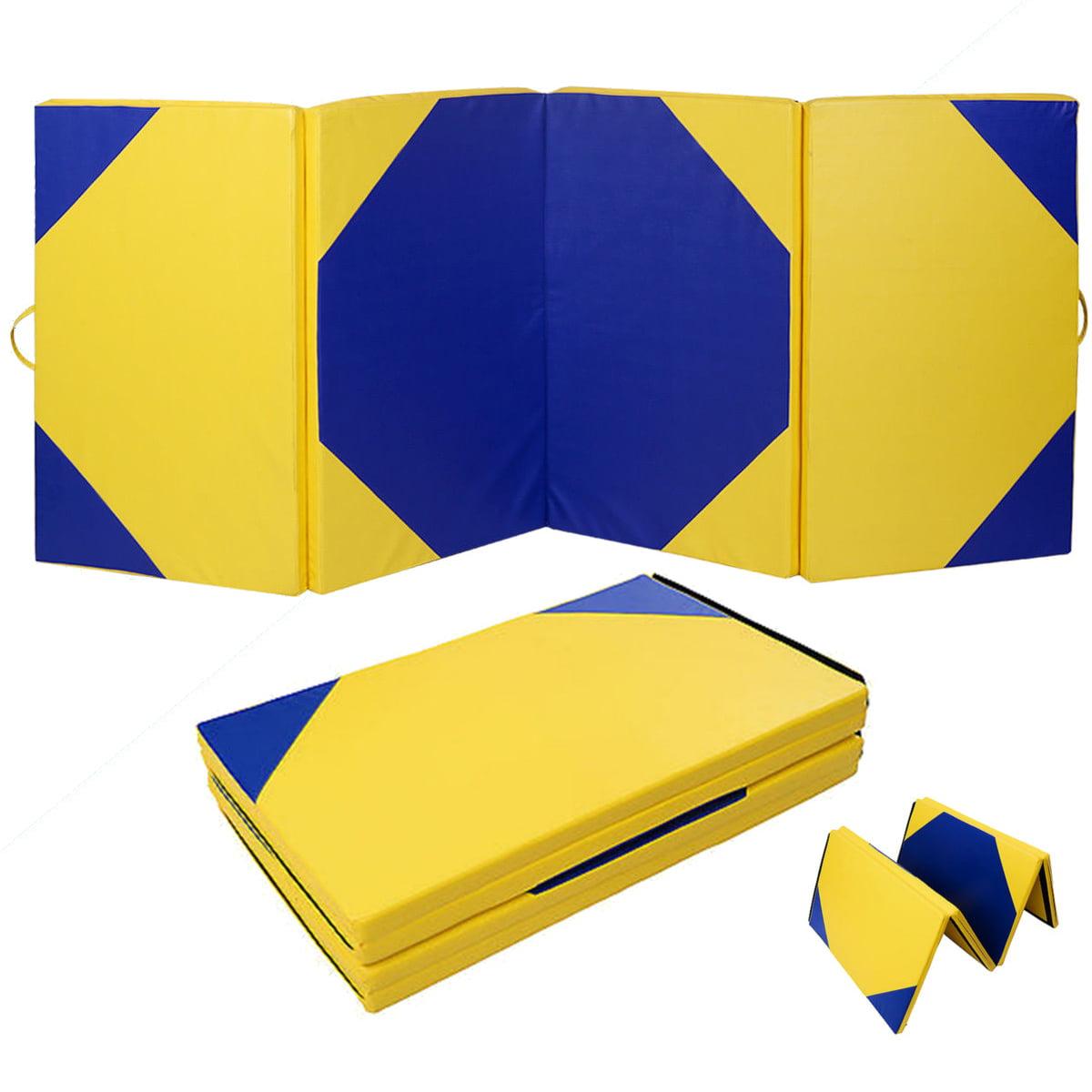 4'x10'x2'' Gymnastics Mat Gym Folding Panel Yoga Aerobics Exercise Tumbling Pad