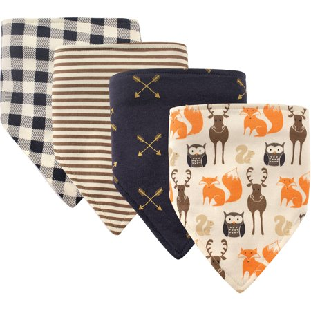 Hudson Baby Boy and Girl Bandana Bib, 4-Pack - Forest (Baby Theme Ideas)