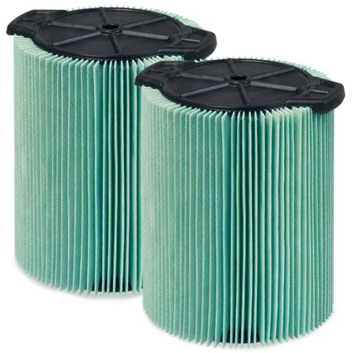 WORKSHOP  Wet Dry Vacs WS23200F2 HEPA 5 to 16-gallon Media Cartridge Filter for Wet Dry Shop Vacuum (Pack of 2)