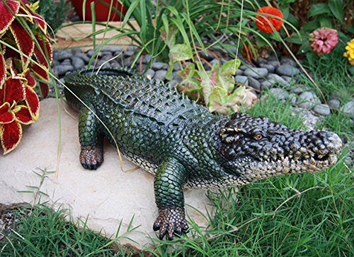 "Atlantic Collectibles Realistic Guest Shock Greeter Alligator Crocodile 21""L Garden... by Atlantic Collectibles"