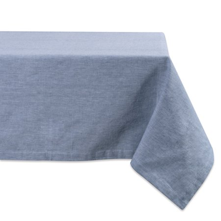 Design Imports Classic Rectangle Solid Chambray Kitchen Tablecloth, 120