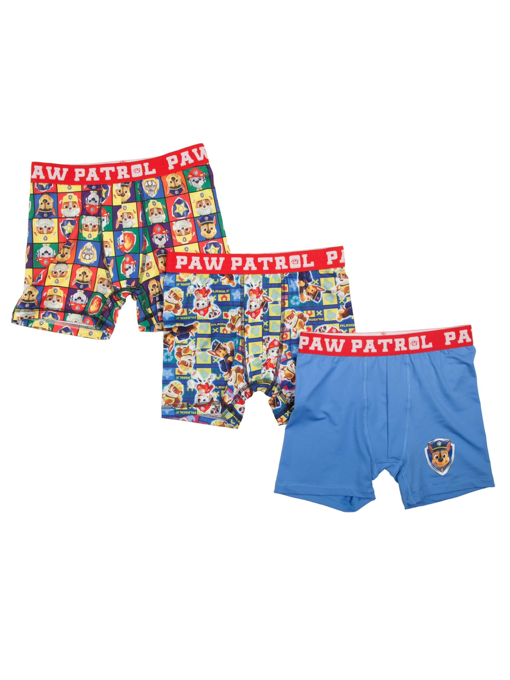 PAW Patrol Boy's Poly Boxer Briefs, 3 Pack
