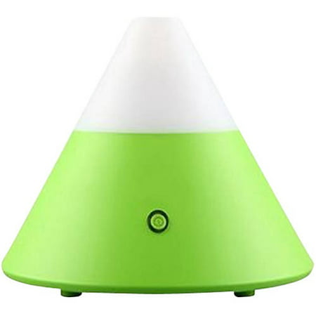 ZAQ Noor Essential Green LiteMist Ultrasonic Aromatherapy Color-Changing Light 80 mL Oil Diffuser