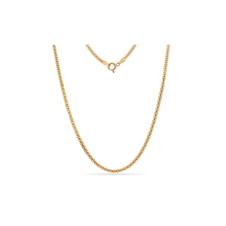- Gold Over Sterling Silver Bismark Chain Necklace 22 Inch
