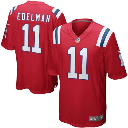 20eab1ca012 Julian Edelman New England Patriots Nike Alternate Game Jersey - Red -  Walmart.com