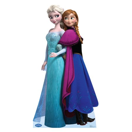 Disney Frozen Princess Elsa and Anna Life Size Cutout Stand Large Cardboard Cutout Party Prop Decor Birthday party Supplies, Disney's The Princess and the Frog Birthday decoration Size: 60