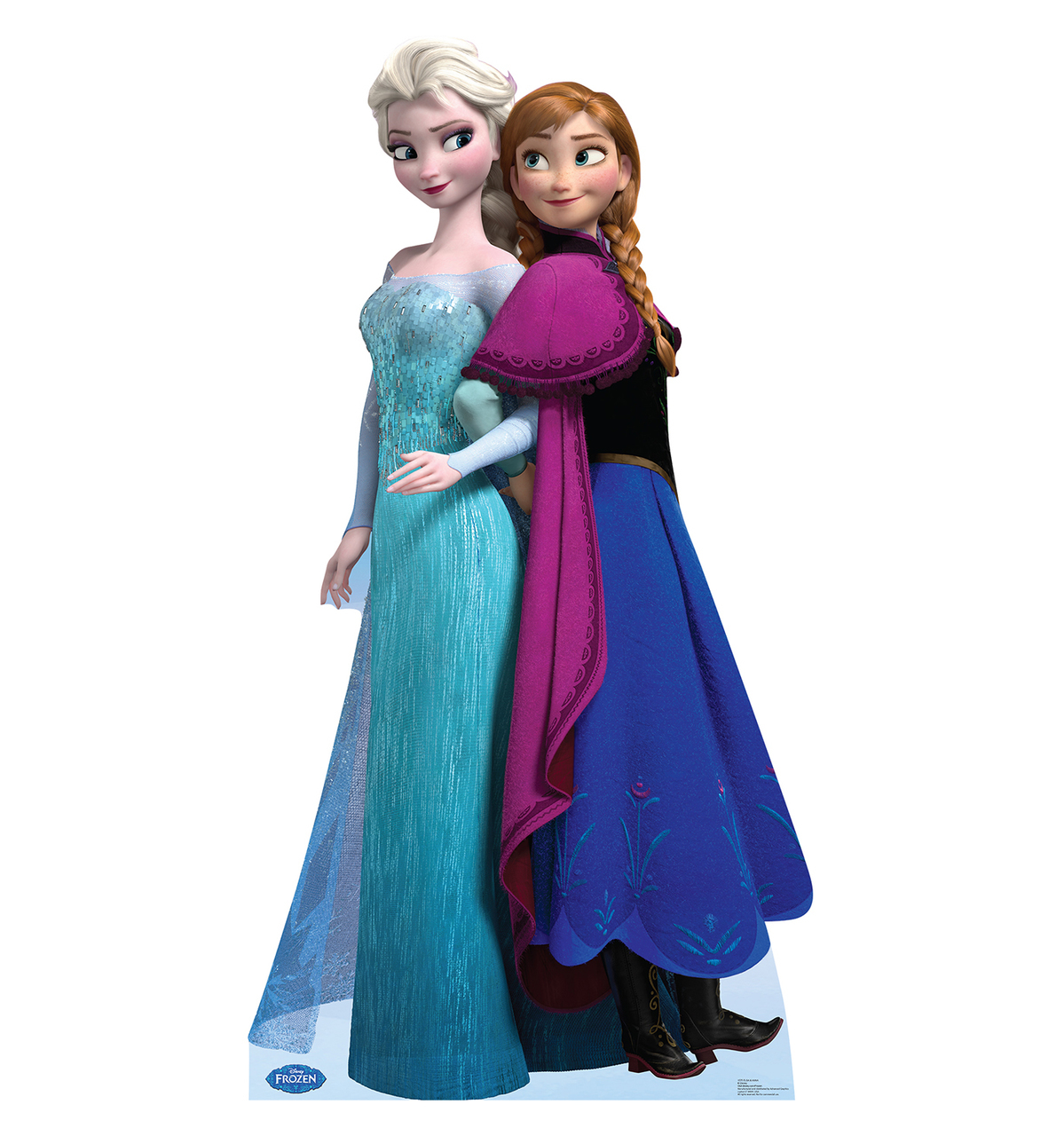 "Disney Frozen Princess Elsa and Anna Life Size Cutout Stand Large Cardboard Cutout Party Prop Decor Birthday party Supplies, Disney's The Princess and the Frog Birthday decoration Size: 60"" x 49"""