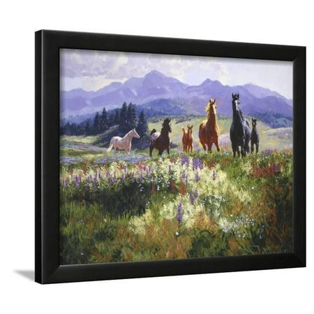 Allure Framed Art - Wildflower Allure Framed Print Wall Art By Claire Goldrick