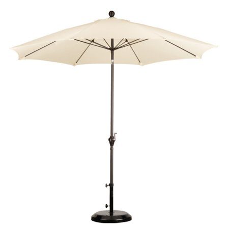 California Umbrella 9 ft. Fiberglass Polyester Push Button Tilt Market Umbrella