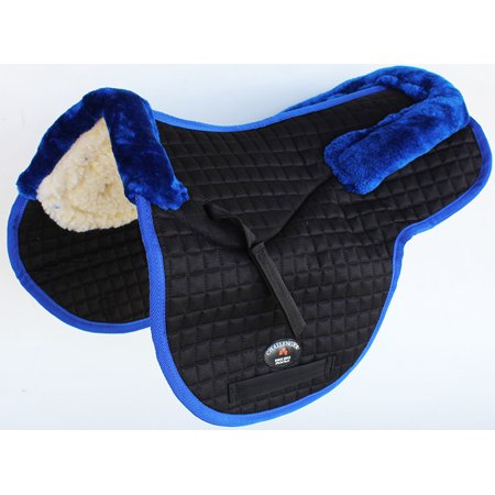 Horse Quilted ENGLISH SADDLE PAD Trail Contour Fleece Lined 72102-112 Double Fleece Saddle Pads
