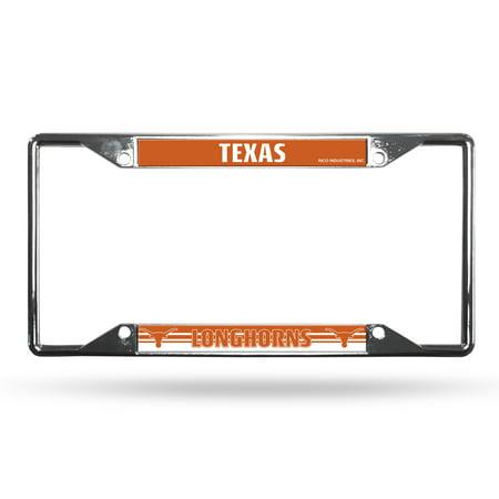Texas Longhorns NCAA Chrome EZ View License Plate Frame