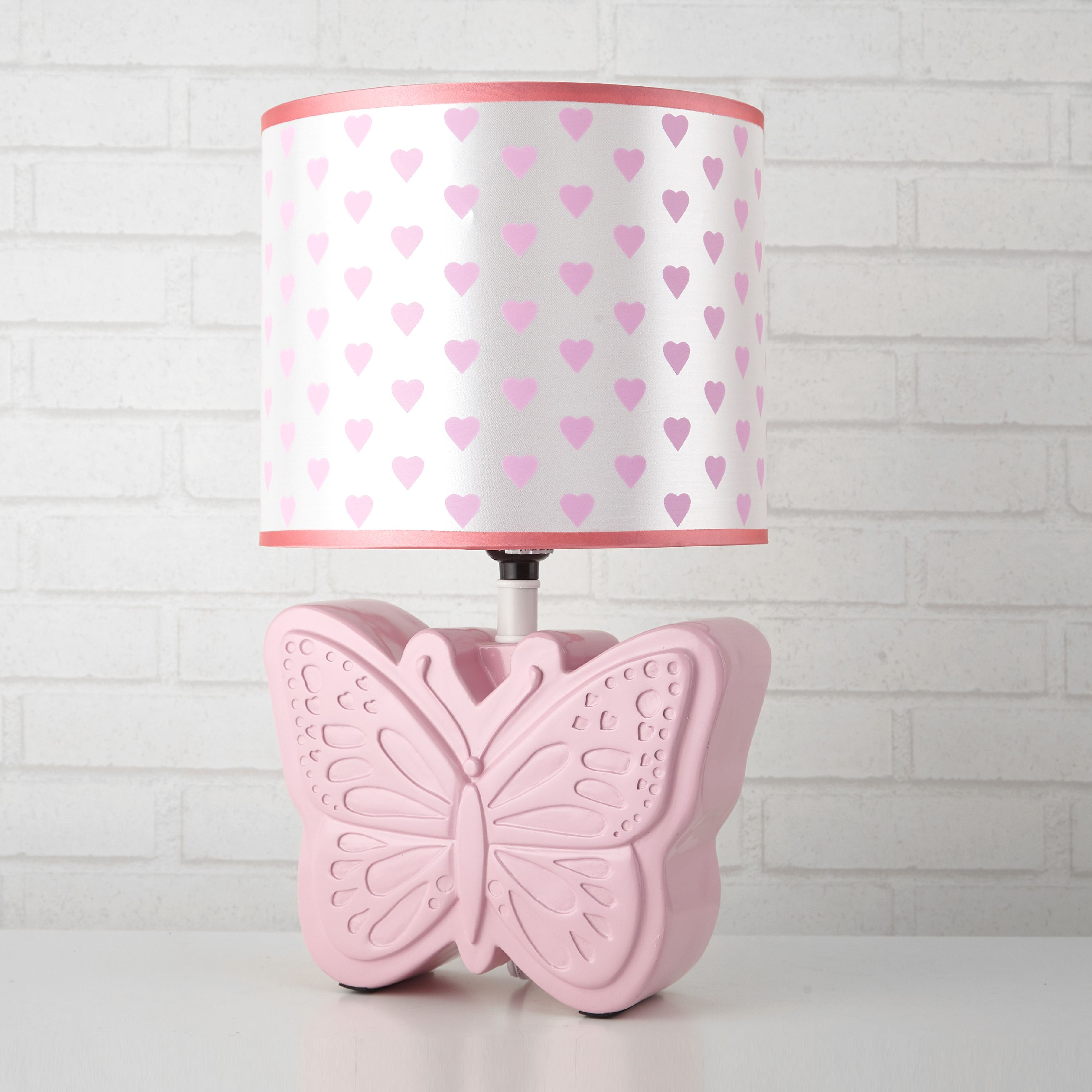 Mainstays Kids Butterfly Lamp, Pink