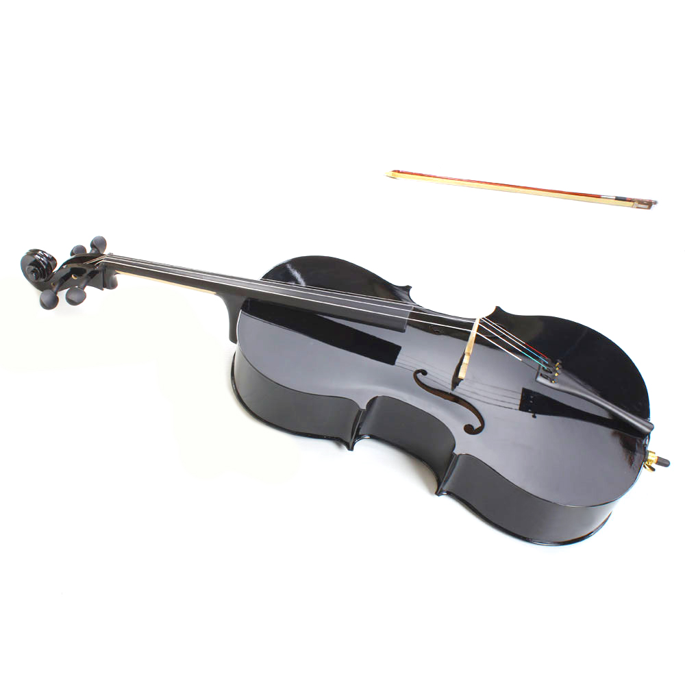 Zimtown Acoustic Student Adult Cello with Soft Case, Bow, Bridge, Rosin, Size 1/2 1/4 3/4 4/4 (Full Size)