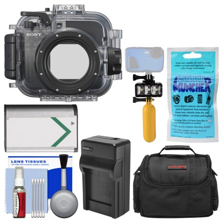 Sony MPK-URX100A Marine Underwater Housing Case for RX100 Series Cameras with Case + NP-BX1 Battery & Charger + Underwater Light + Floating Handle (Designer Series Camera Housings)