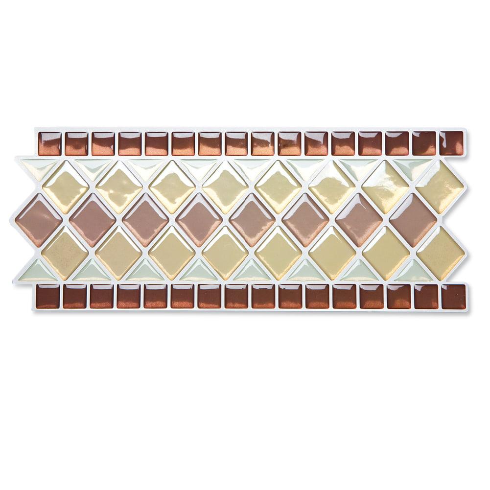- Tile Borders Peel And Stick Backsplash, Removable Backsplash For