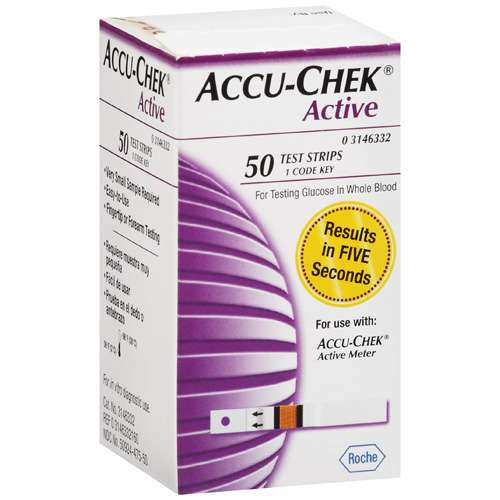 ACCU-CHEK Active Blood Glucose Test Strips 50ct