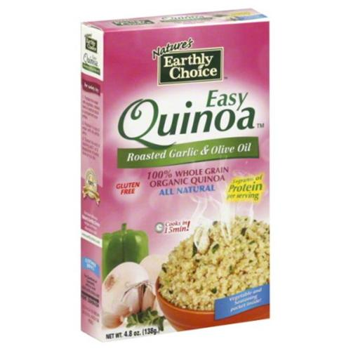 Natures Earthly Choice Quinoa Easy Roasted Garlic Olive Oil, 4. 8 oz, - Pack of 6
