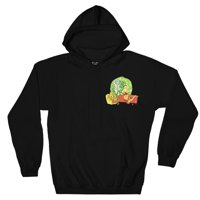 Ripple Junction Rick and Morty Adult Unisex Pizza Portal Pull Over Fleece Hoodie Black