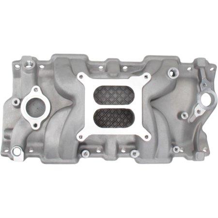 Small Block Chevy Hi-Rise Intake Manifold, Polished Finish