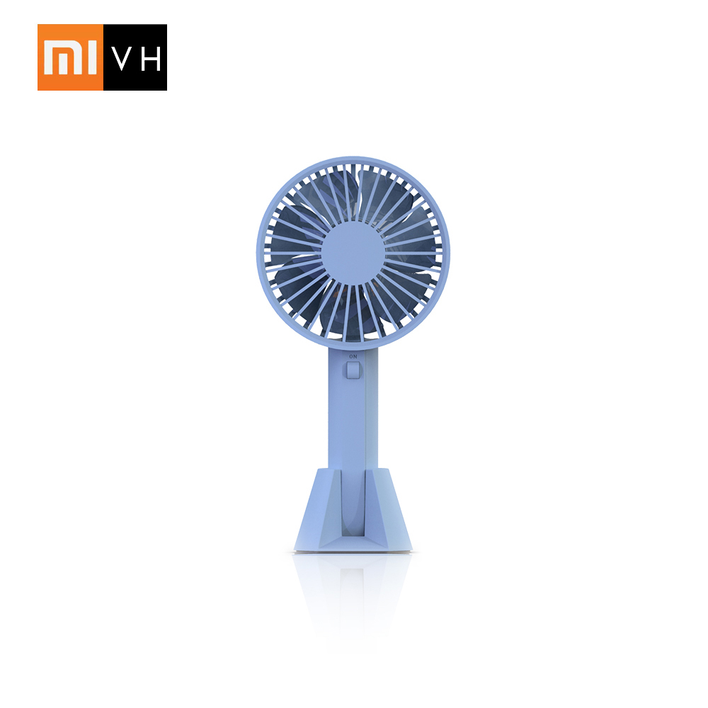 White Garosa Mini Portable Table Desk USB Fan Rechargeable Battery Powered Quiet Handheld Personal Fan with Table Night Lamp for Home Office Travel Outdoor