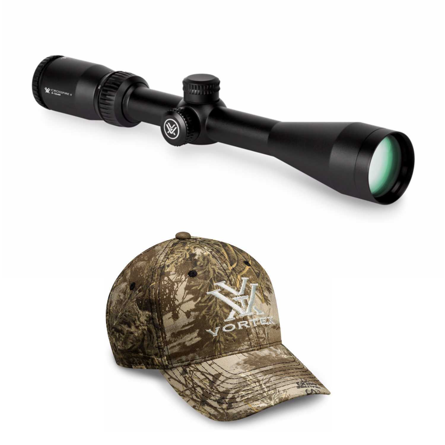 Vortex Optics Crossfire II 4-12x44 BDC Riflescope  with Vortex Camo Cap