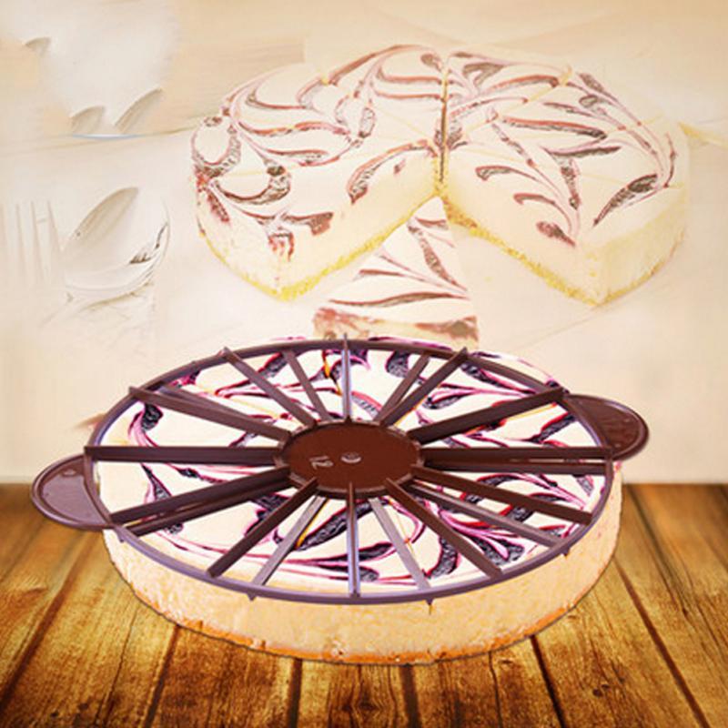 Pie Cake Cutter Press Marker Bread Divider Piece Portion Slicer Hand 10 12 Slice