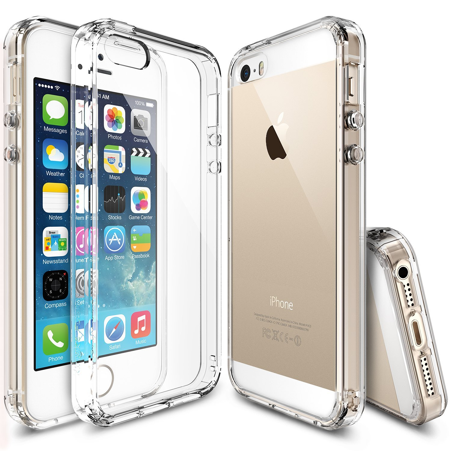 promo code 0f876 6aff3 Ringke FUSION Case for Apple iPhone SE / 5S / 5 - Clear