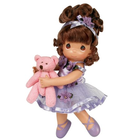 Precious Moments Dolls by The Doll Maker, Linda Rick, Dance with Me; Ballerina, Brunette, 9 inch doll - Me Doll
