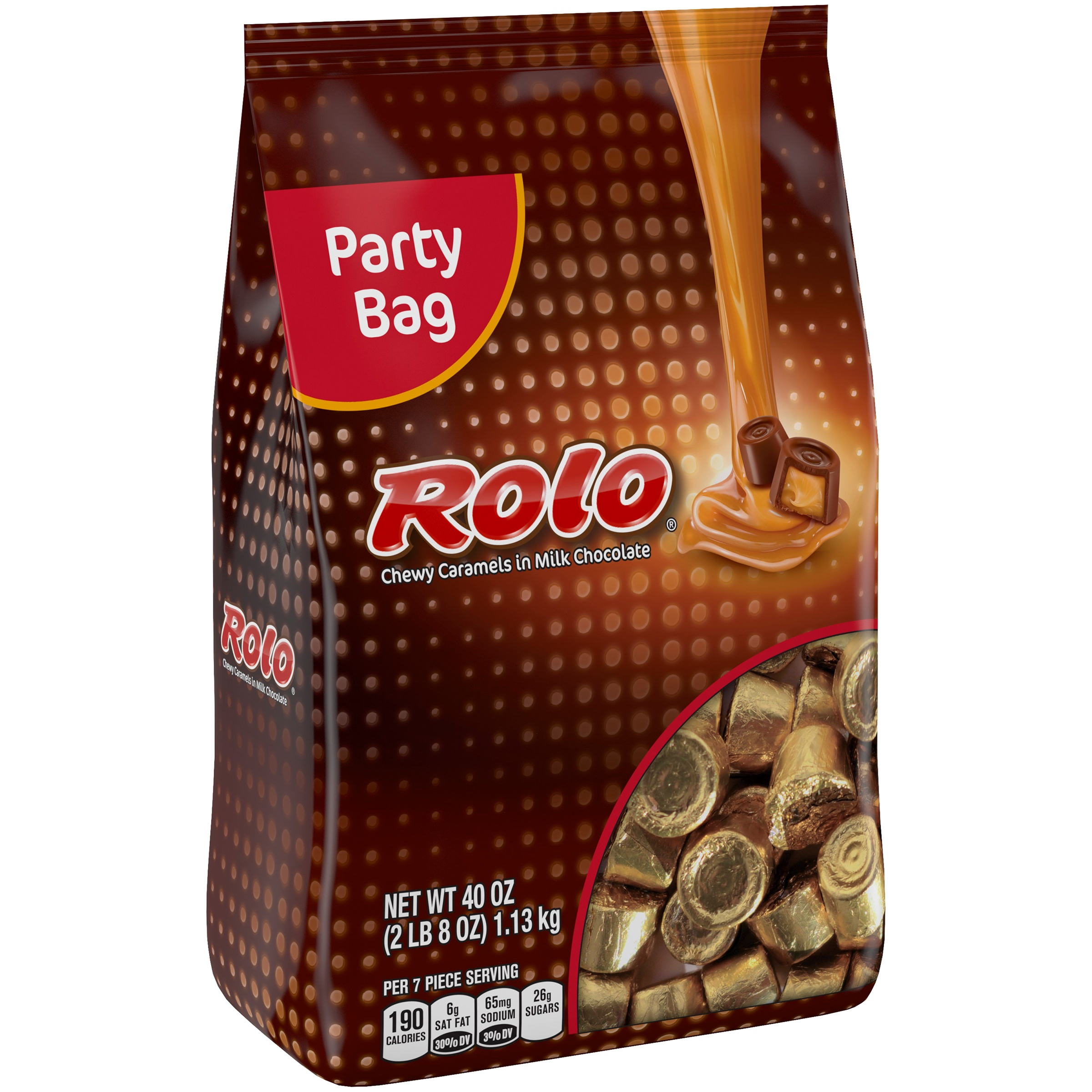 Rolo, Chewy Caramels in Milk Chocolate Candy, 40 Oz