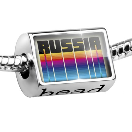 Bead Retro Cites States Countries Russia Charm Fits All European Bracelets