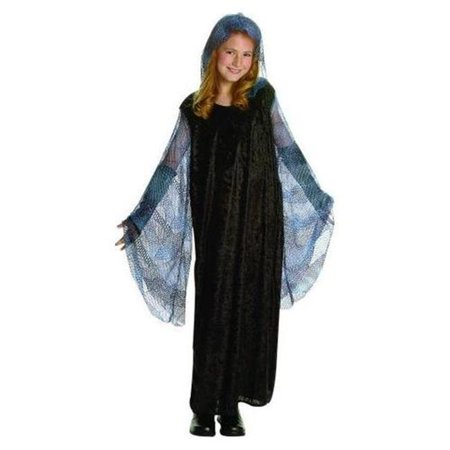 RG Costumes 91414-L Large Venus Dress with Mesh Hood Costume - Blue