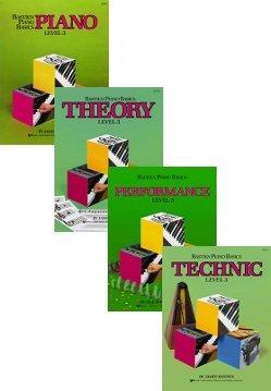 Performance Technic 4 book set Theory Piano pack Bastien Piano Basics Level 3