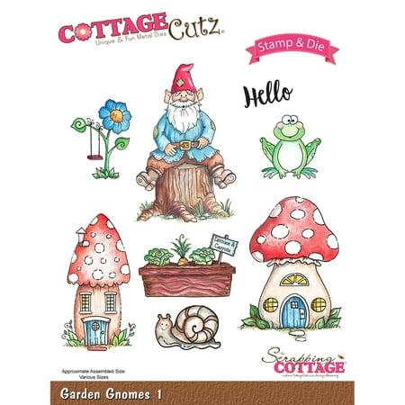 Cottagecutz Stamp   Die Set Garden Gnomes 1