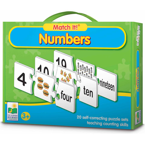The Learning Journey Match It! Numbers